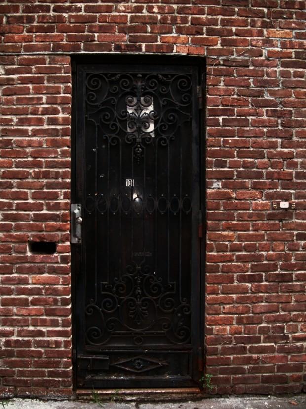 Missing Brick Door in Williamsburg, NYC, from the Door Series, by La La