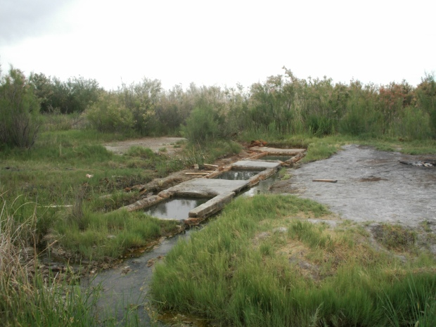One of my personal photos by K. Clune of the secret rustic hot springs in Delta, Utah.