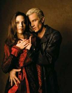 Juliet Landau and James MAsters as Drusilla and Spike from WB's Buffy, the Vampire Slayer.