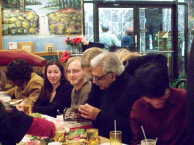 Our Post Colonial Criticism class went out to eat with Tariq Ali on University of Michigan, Winter semester 2009.