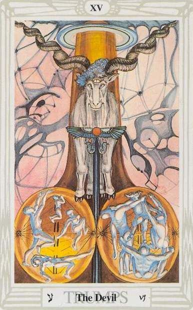 The Devil in the Thoth tarot deck by Aleister Crowley