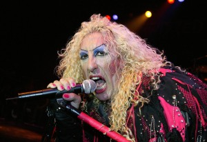 LONDON - AUGUST 1:  Dee Snider of Twisted Sister performs on stage at The Astoria on August 1, 2004 in London. (Photo by Jo Hale/Getty Images)
